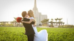 Gilbert Temple Wedding Photo