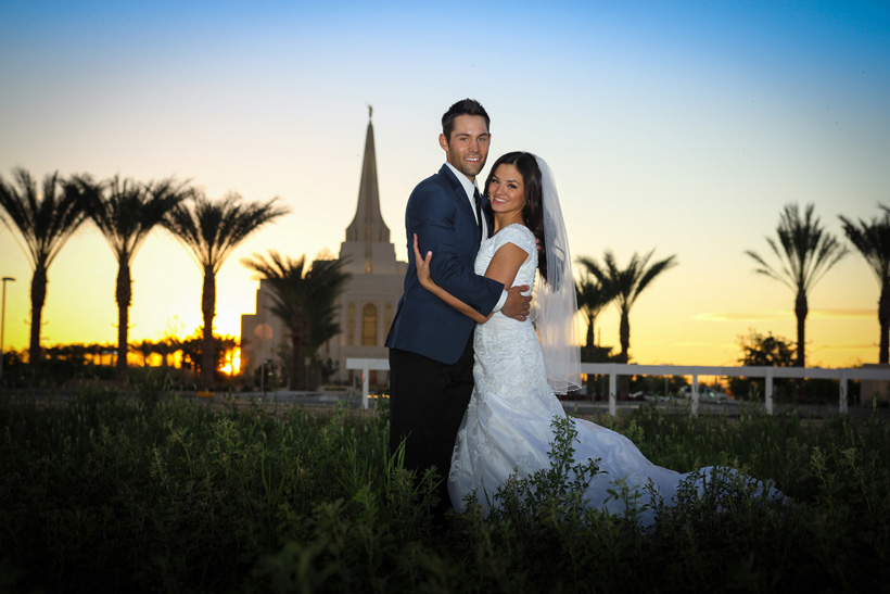 Gilbert AZ Temple Wedding Photography