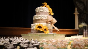 LDS Wedding Cake at Reception