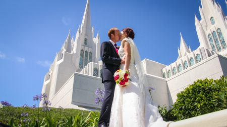 San Diego Temple Wedding Photo